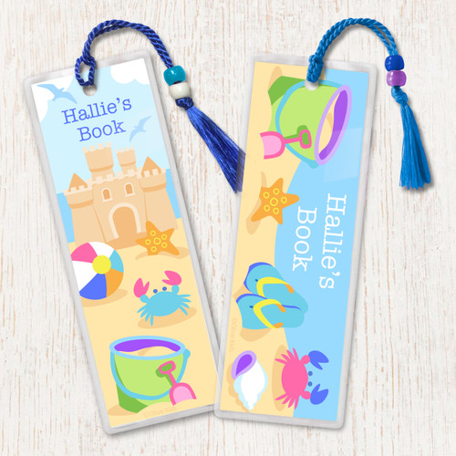Summer Personalized Kids Bookmark Set of 2