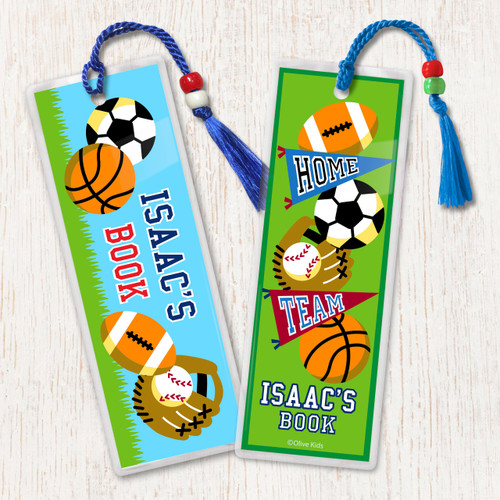 Game On Personalized Kids Bookmark Set of 2