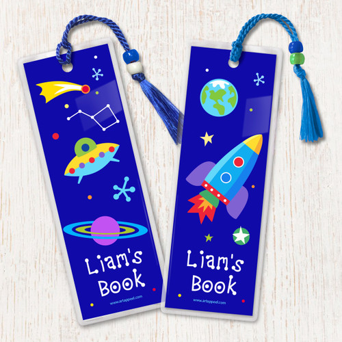 Out of This World Personalized Kids Bookmark Set of 2