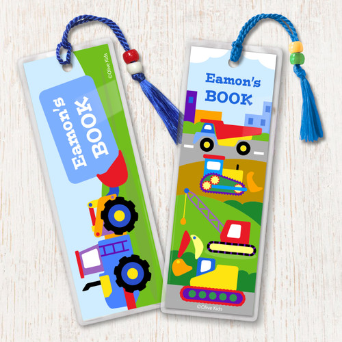 Under Construction Personalized Kids Bookmark Set of 2