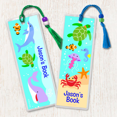 Ocean Personalized Kids Bookmark Set of 2