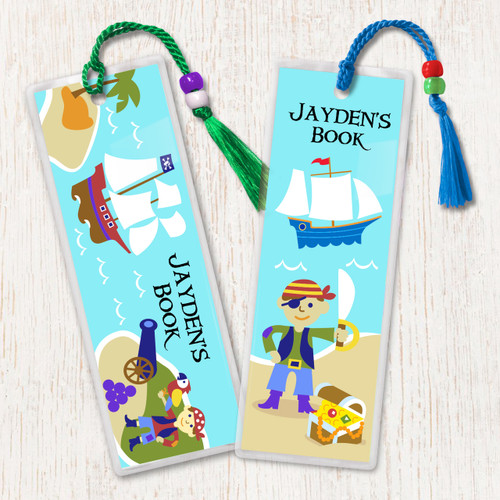 Pirates Personalized Kids Bookmark Set of 2