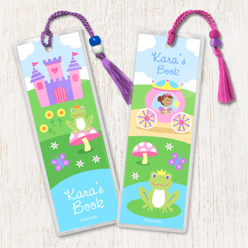 Princess (Dark Skin) Personalized Kids Bookmark Set of 2
