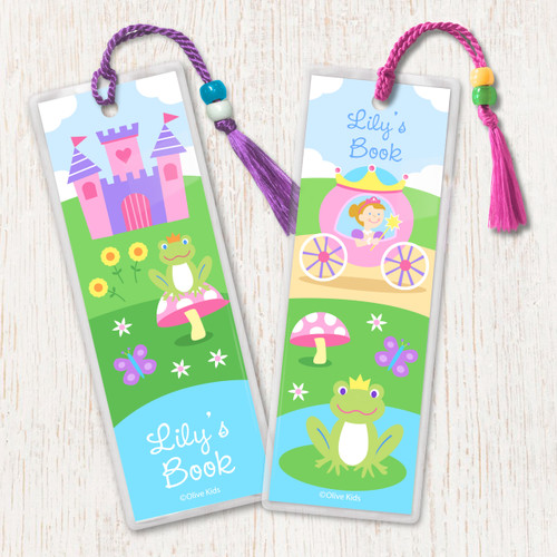 Princess (Light Skin) Personalized Kids Bookmark Set of 2