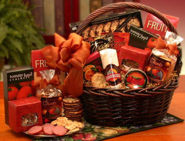 A Grand World Of Thanks Gourmet Appreciation Gift Basket