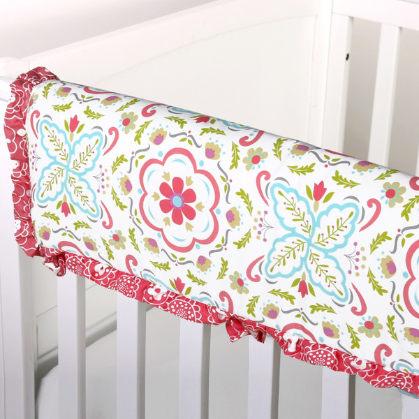 Mila Crib Rail Guard (Floral)