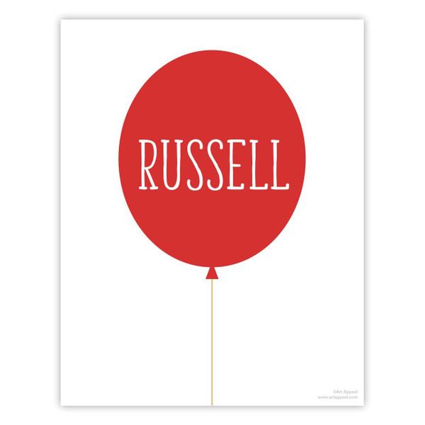 Balloon Personalized Art Print (Available in 8 Colors)