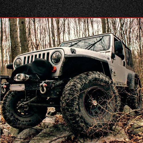 """MCE 4.5"""" Width Front Fenders -Black (97-06 Jeep Wrangler TJ)"""