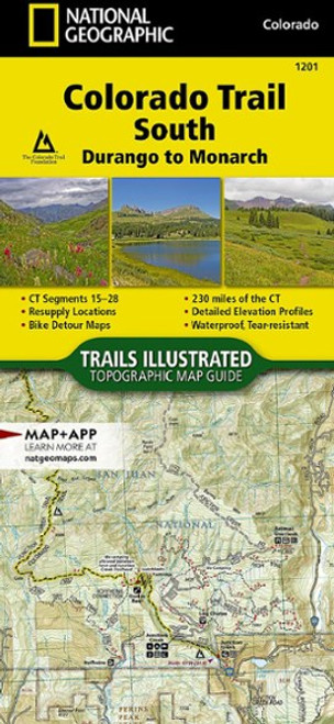 Colorado Trail South (Durango to Monarch) Map