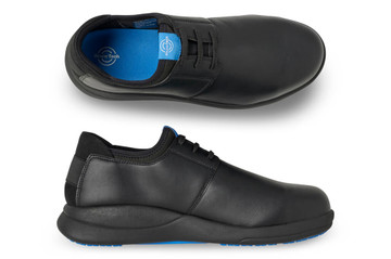 WearerTech Relieve Black Work Shoe Lace Up With Safety Toe Cap and Non Slip Sole Pair View