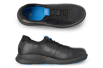 WearerTech Transform Black Work Shoe Lace Up With Safety Toe Cap and Non Slip Sole Pair View