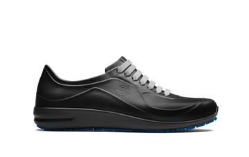 WearerTech Energise Black Comfy Work Shoe Slip On Trainer Non Slip Sole Side View