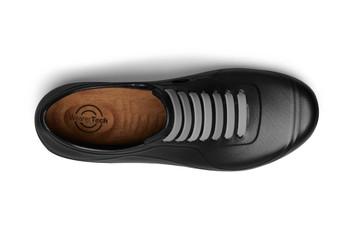WearerTech Energise Black Comfy Work Shoe Slip On Trainer Non Slip Sole Top View