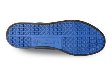 WearerTech Motivate Black Comfy Work Shoe Canvas Front of House Lace Up Shoe Non Slip Sole View