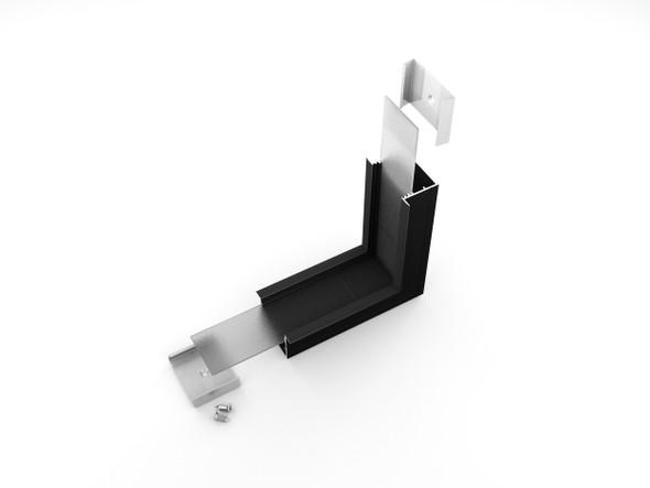 Archilight Vritos Alumnium Corner Joiner for Vario 02 - 44mm Width - 90 Degree - Black - Bent