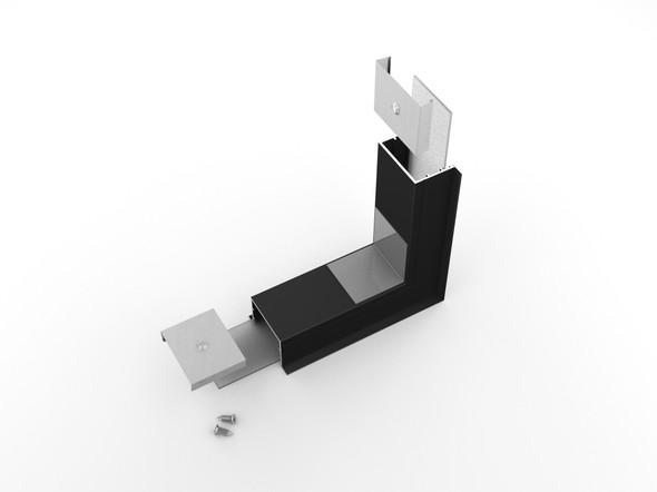 Archilight Vritos Alumnium Corner Joiner for Vario 02 - 44mm Width - 270 Degree - Black