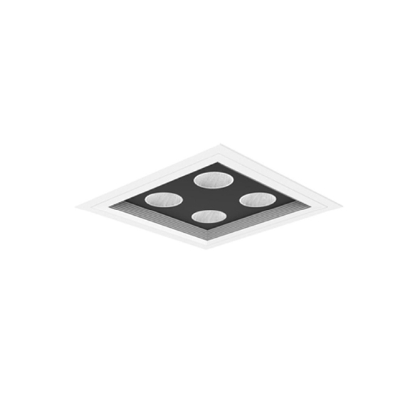 Archilight MICRO Quadro Downlight  MD 2x2 MD55/840 HE - White