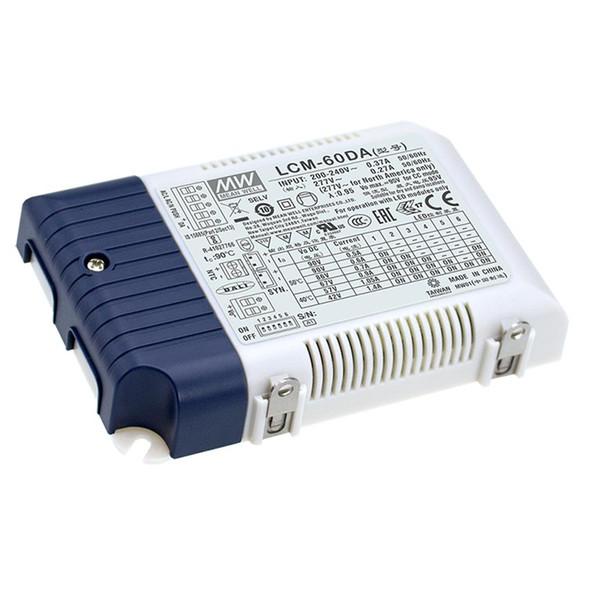 Mean Well LCM-40DA2 Power Supply 60W 500mA 600mA 700mA(default) 900mA 1050mA 1400mA - DALI2 and Push