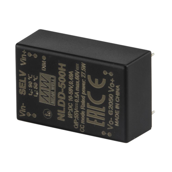 Mean Well NLDD-350HW DC/DC LED Driver CC 350mA - Step-down Wire Type