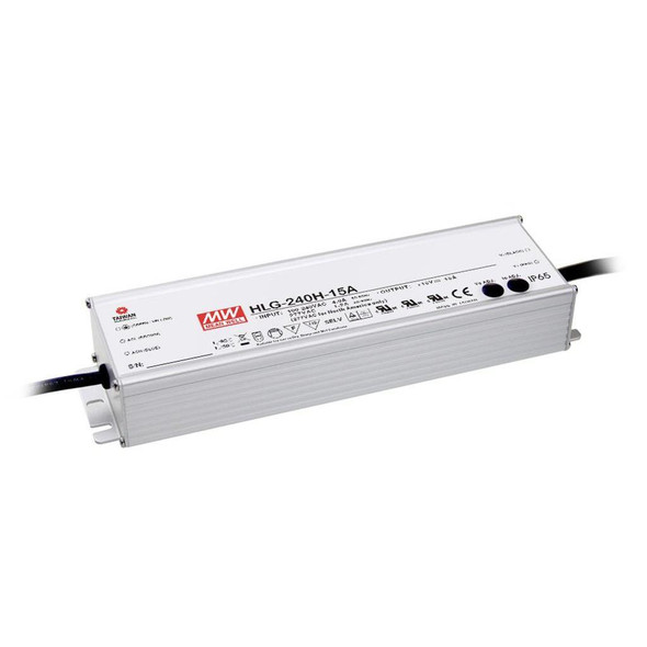 Mean Well HLG-240H-24C AC-DC Single output LED driver Mix mode 240W