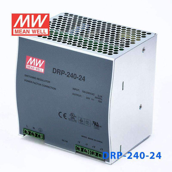 Mean Well DRP-240-24 AC-DC Industrial DIN rail power supply 240W