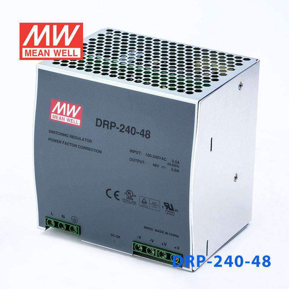 Mean Well DRP-240-48 AC-DC Industrial DIN rail power supply 240W