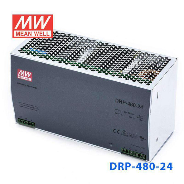 Mean Well DRP-480-24 AC-DC Industrial DIN rail power supply 480W