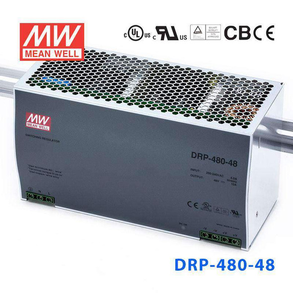 Mean Well DRP-480-48 AC-DC Industrial DIN rail power supply 480W