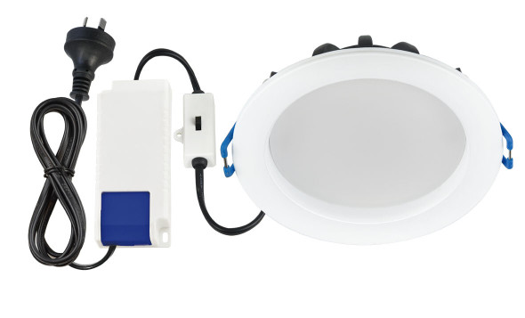 Energetic Clasp Recessed Downlight 11W 3K 90mm Cutout IP54  - White Trim
