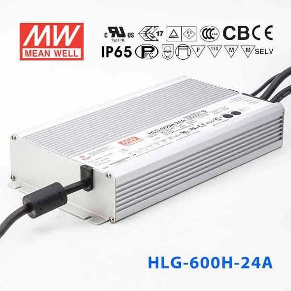 Mean Well HLG-600H-24A Power Supply 600W 24V - Adjustable