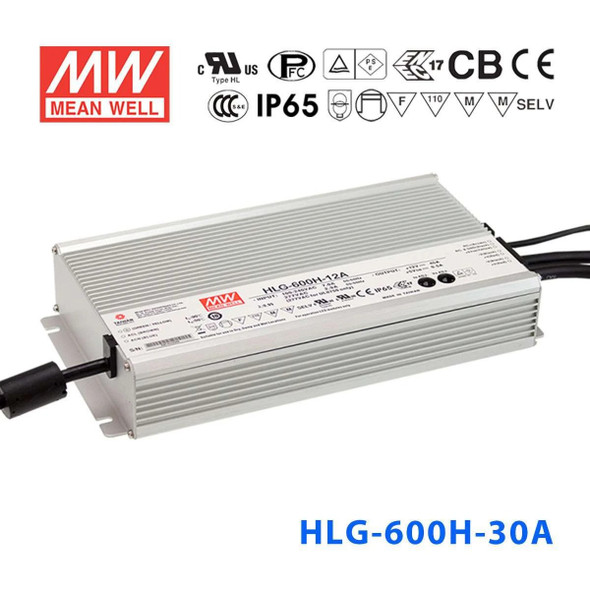 Mean Well HLG-600H-30A Power Supply 600W 30V - Adjustable