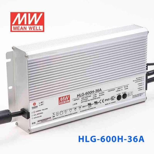 Mean Well HLG-600H-36A Power Supply 600W 36V - Adjustable