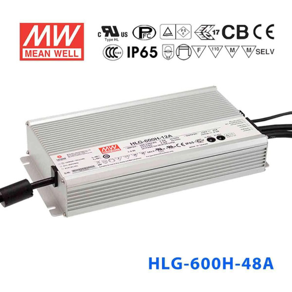 Mean Well HLG-600H-48A Power Supply 600W 48V - Adjustable