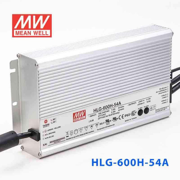 Mean Well HLG-600H-54A Power Supply 600W 54V - Adjustable