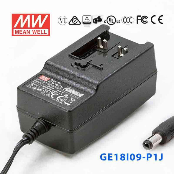 Mean Well GE18I09-P1J Power Supply 18W 9V