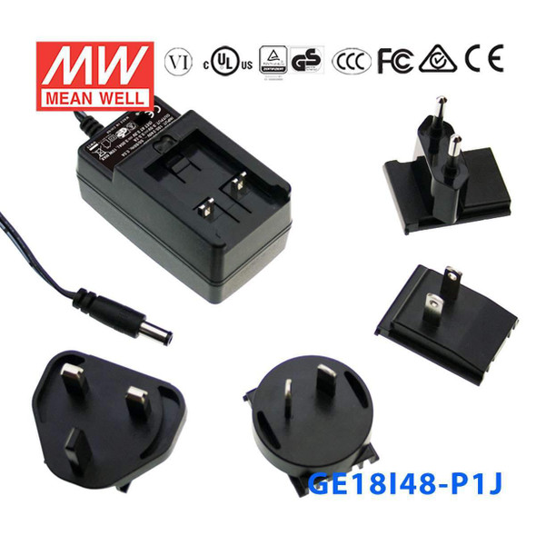 Mean Well GE18I48-P1J Power Supply 18W 48V