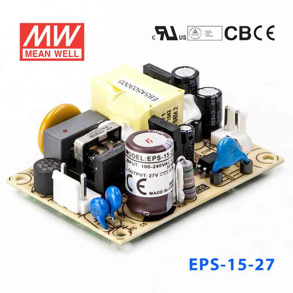 Mean Well EPS-15-27 Power Supply 15W 27V