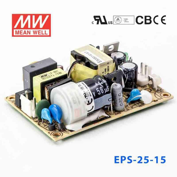Mean Well EPS-25-15 Power Supply 25W 15V