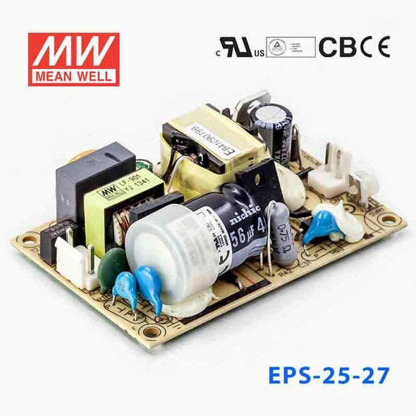 Mean Well EPS-25-27 Power Supply 25W 27V