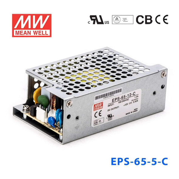 Mean Well EPS-65-5-C Power Supply 55W 5V