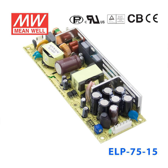 Mean Well ELP-75-15 Power Supply 75W 15V