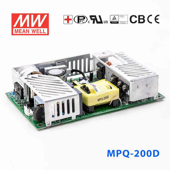 Mean Well MPQ-200D Power Supply 200W 5V 24V 12V -12V