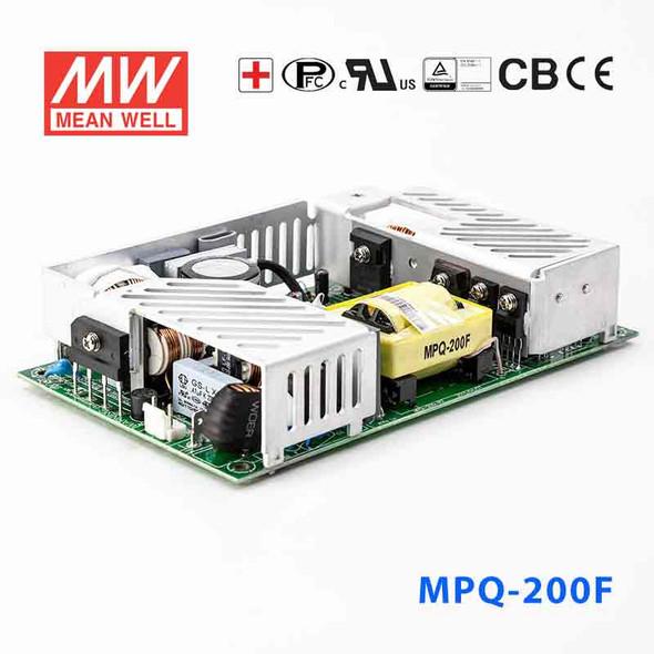 Mean Well MPQ-200F Power Supply 200W 5V 24V 15V -15V