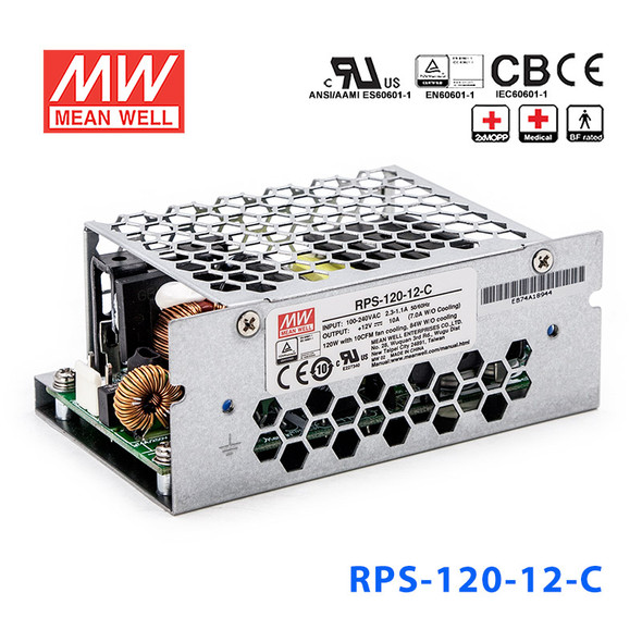 Mean Well RPS-120-27C Green Power Supply W 27V 4.5A - Medical Power Supply