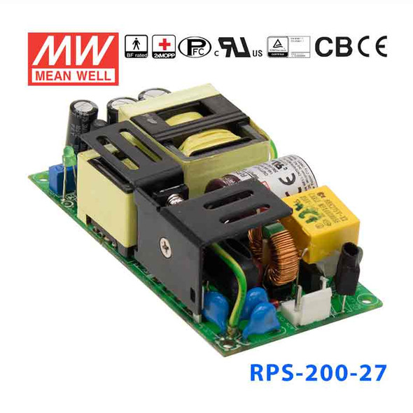 Mean Well RPS-200-27 Green Power Supply W 27V 5.3A - Medical Power Supply