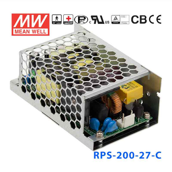 Mean Well RPS-200-27-C Green Power Supply W 27V 5.3A - Medical Power Supply