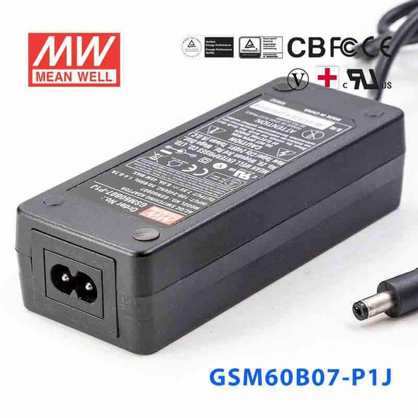 Mean Well  GSM60B07-P1J  Power Supply 40W 7.5V