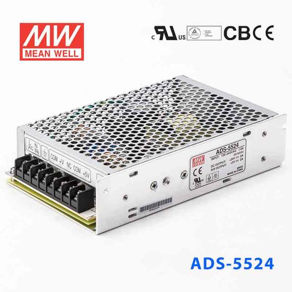 Mean Well ADS-5524 Power Supply58W 24V 2A - 5V Output