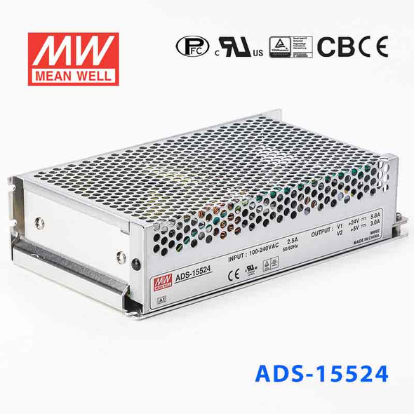 Mean Well ADS-15524 Power Supply 154.2W 48V 2.9A - 5V Output