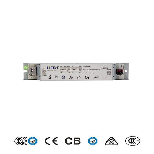 Lifud LF-GMR020YE-500 LED Driver 13.5-20W 500mA - Flicker Free